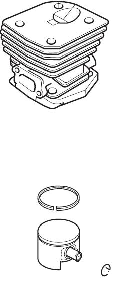 Zylinder mit Kolben Husqvarna 350, 351, 353 Ø 44mm