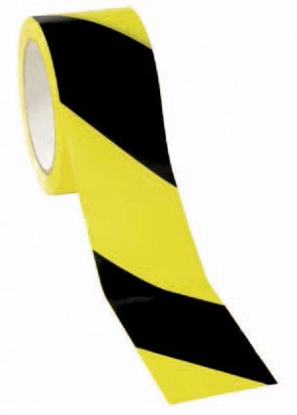 Warnband - Selbstklebend gelb/schwarz 66m