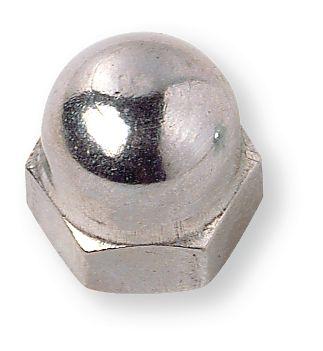 Mutter Hutmutter Sechskant M8 DIN1587 (100 Stück) A2