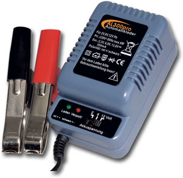 Automatik-Batterieladegerät AL300Pro 2/6/12V/300mA