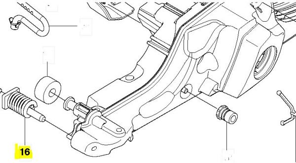 Puffer Gummi Vibrationsdämpfer Husqvarna 545, 550 XP/G, 555, 560 XP/G, 562 XP/G Kraftstofftank vorne