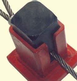 Seilpressgerät mit Einsatz für 9–11 mm Alu-Taluritklemmen