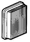 Luftfilter Efco DS 2500, DS 2800, DS 3200, DS3800, DS 4200, PTX 2700, TG 2800