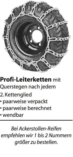 Schneekette - Leiterkette 16x6.50-8; 16x5.70-8; 3.00x12; 4.00x9