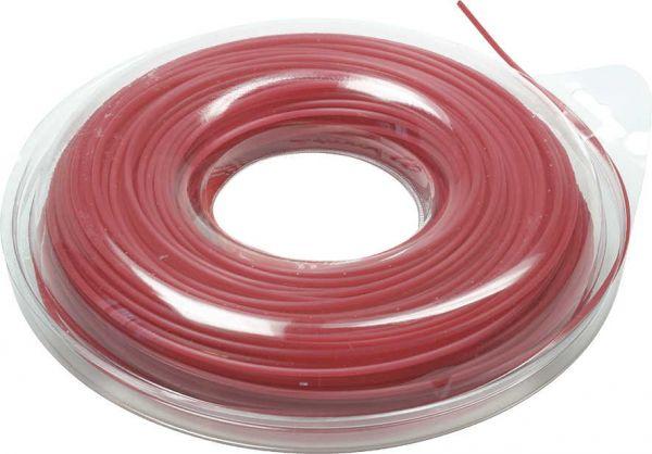 Mähfaden 2,4 mm / ca. 90 Meter Nylonfaden Flexline 4-kant mit Aluminiumpartikeln