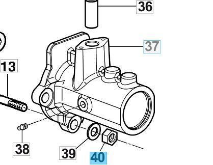 Bertolini Mutter für B73 Getriebebefestigung M12x1,75 PG GS