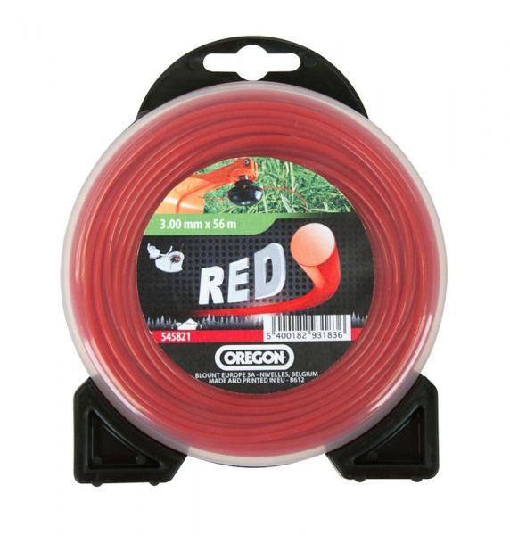 Mähfaden 3,0mm / ca.225 Meter Nylon-Rundfaden Roundline Rot